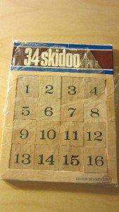 1971 Reiss Games 34 Skidoo Game Vintage Brainteaser Magic Square Puzzle