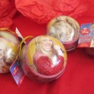 Hannah Montana Christmas Bulbs Tin Ornaments Set of 4 Disney Collectible Candy
