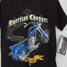 American Chopper Discovery Channel Boys T Shirt NWT Black Blue M Short Sleeve