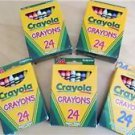 Crayola Crayons of 5 Boxes New 24 per Box Crafts Color Art Kids Draw