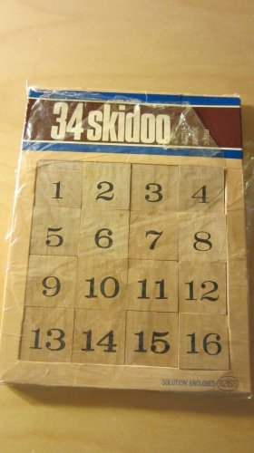 34 Skidoo Game Vintage Brainteaser Magic Square Puzzle 1971 Reiss Games Wood