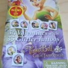 Valentine Disney Tinkerbell and Fairies 34 Valentines  35 Glitter Tattoos New