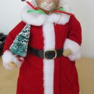 "Christmas Santa Mouse 12"" Tall Holiday Red Santa Suit Christmas Tree"