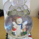 Water Globe Musical International Bazaar NIB Frosty The Snowman Shaped