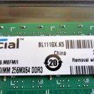 Crucial 2GB RAM DIMM DDR3 1333 PC3-10600 SDRAM Memory (CT25664BA1339)