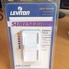 Leviton SureSlide Decora 600W Light Switch Dimmer # 602-6631-W Brand New White