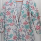 Girls Jacket Blazer Coat White Background Pink Blue Purple Green Pastel Flowers