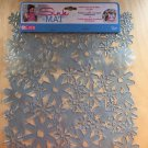 Evri Sink Mat Flowers Blue 12x10 Size New Anti Slip Cushion Custom Fit Kitchen