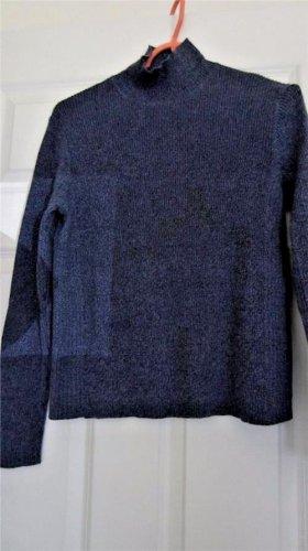 Girls Sweater Top Small Marsh Landing 100% Cotton Denim Blue Long Sleeve