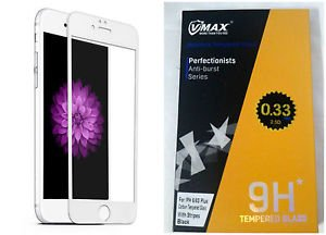 VMAX 2.5D Tempered Glass Screen Protector .33mm for iPhone 6/6S White