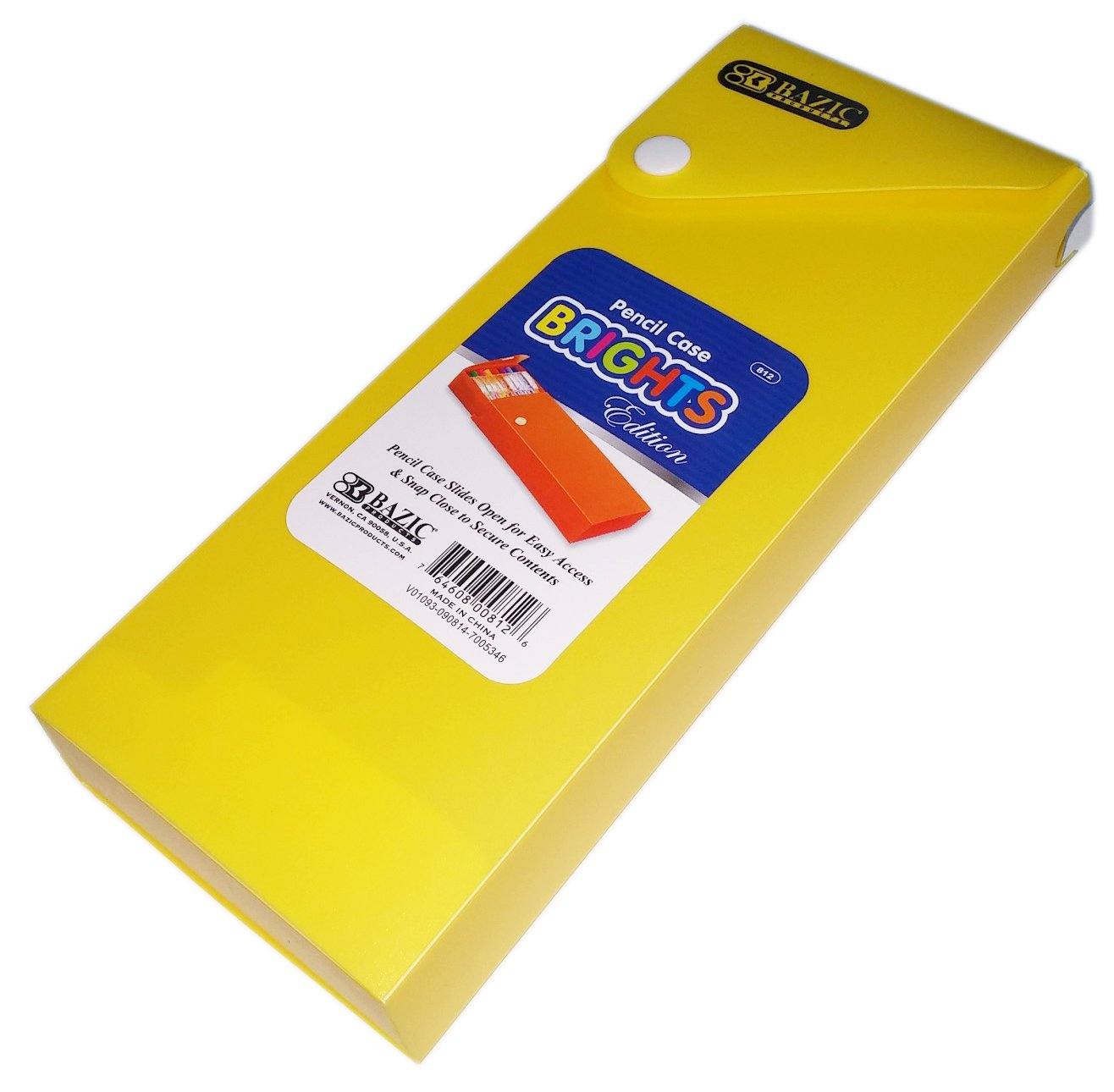 Yellow Pencil Case Slides Open for Easy Access