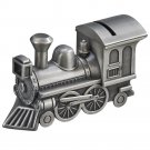 Pewter Train Money Piggy Bank
