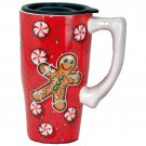 Gingerbread Travel Mug, Red