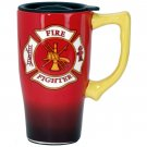 Firefighter Red Travel Mug with Sipping Lid