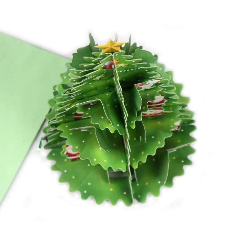 Christmas Tree Shape Greeting Card with Envelope - Perfect Decoration