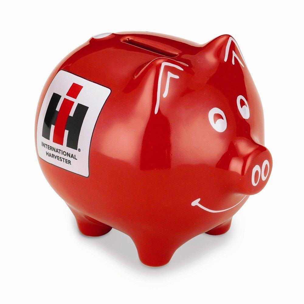 Case IH IH International Harvester Red Piggy Bank