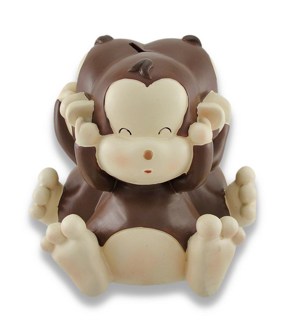 Baby Monkey See, Speak, Hear No Evil Coin Bank 4.5 In.