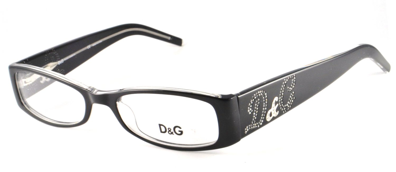Dolce & Gabbana Black Optical Eyeglasses Frame DD1148 675 52mm New w/ Case
