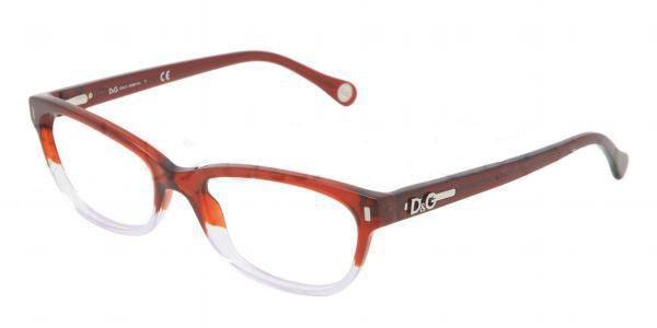 Dolce & Gabbana Red Colorless Transparent Optical Eyeglasses Frame DD1205 2574