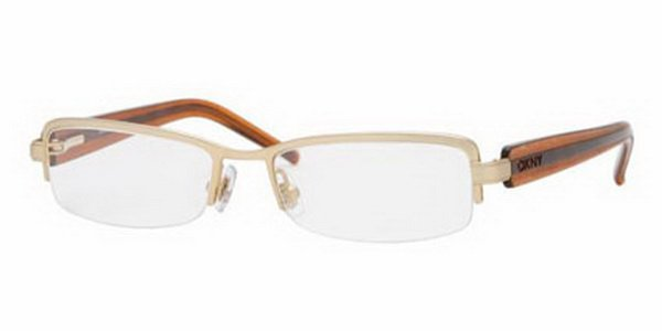 Donna Karan DKNY Gold Optical Eyeglasses Frame DY5595 1087 49mm New w/ Case