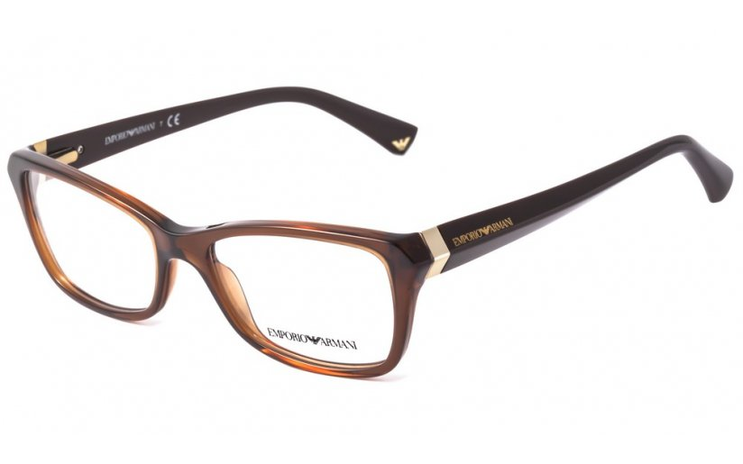 Emporio Armani Brown Optical Eyeglasses Frame EA3023 5198 54mm New w/ Case