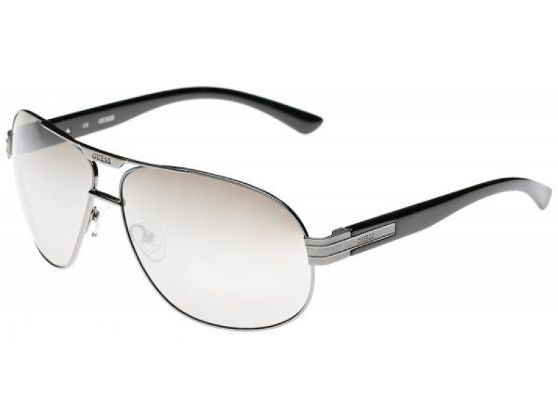 GUESS Men Silver Sunglasses GF0155 08C New w/ Case