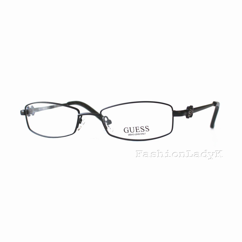 GUESS Black Optical Eyeglasses Frame GU2254 BLK 50mm New w/ Case