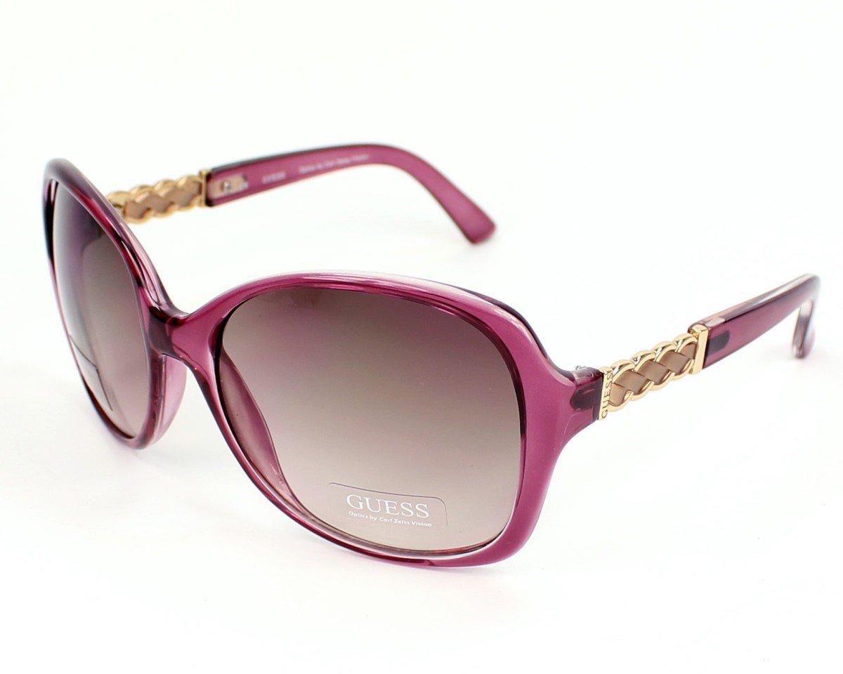 GUESS Women Purple Sunglasses GU7280 PUR-34 New w/ Case