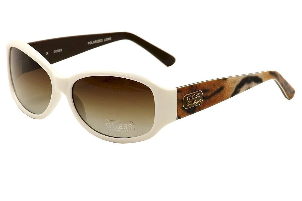 GUESS Men White Frame Brown Lens Sunglasses GUP2016 WHT-34 New w/ Case