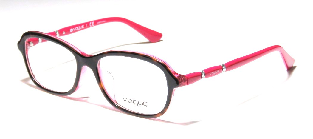 Vogue Pink Brown Tortoise Optical Eyeglasses Frame VO2999BF 2343 54mm