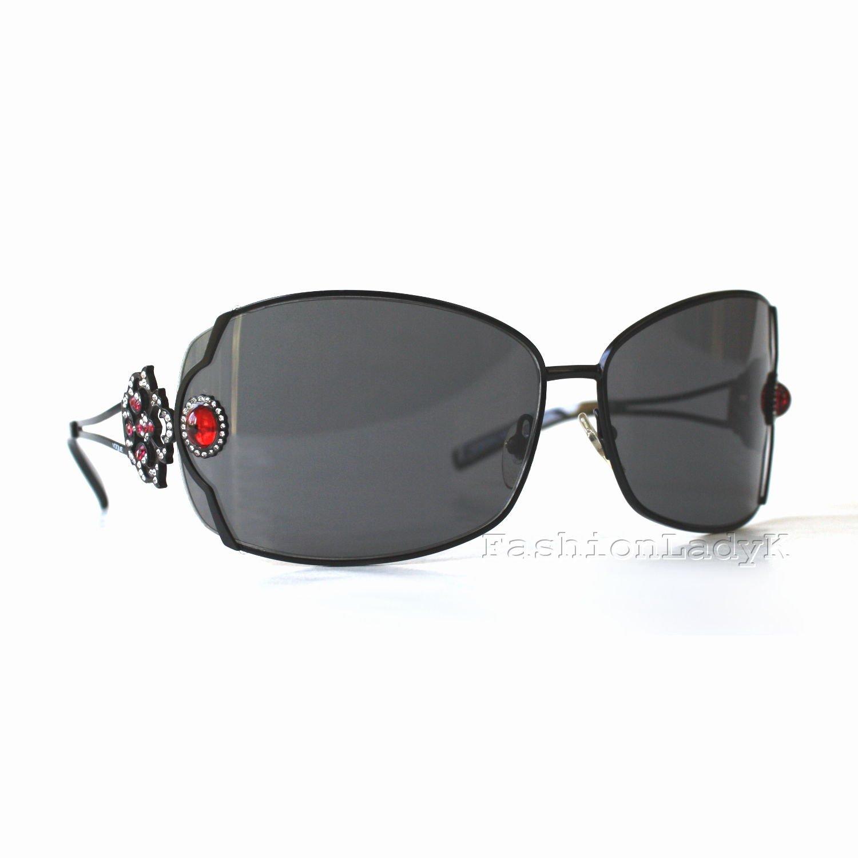VOGUE Women Black Frame Gray Lens Sunglasses VO3609SB 352S-87 New w/ Case