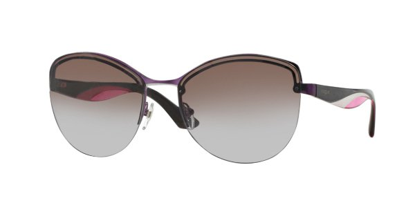 VOGUE Women Pink Frame Brown Lens Sunglasses VO3972-S 897-68 New w/ Case