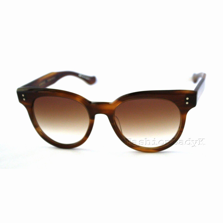 DITA Women Brown Sunglasses DITASUNSPOT 22028B-AMB New w/ Case