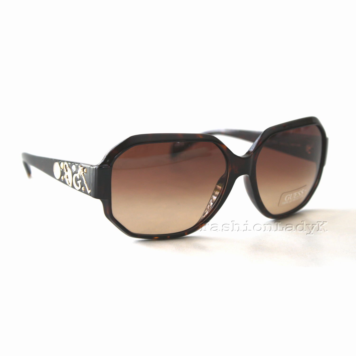 GUESS Women Brown Sunglasses GU7025 TO-34 New w/ Case