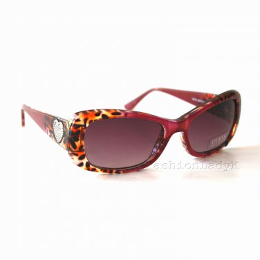 GUESS Women Burgundy Sunglasses GU7126 BUCH-34 New w/ Case