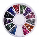 Biutee 12 Colors Nail Rhinestones Acrylic Nail Art Decoration 2mm For UV Gel