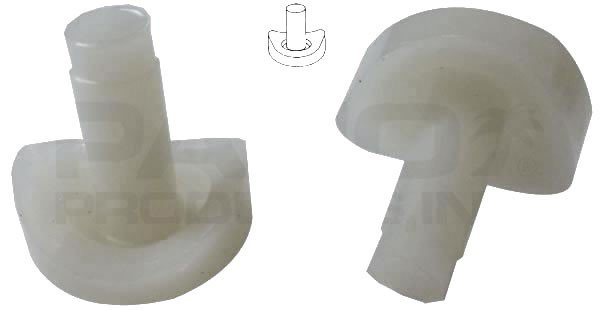 """8 Coved Nylon Stem 3/4"""" Bumpers Tubular Bases & Patio Chairs - White"""