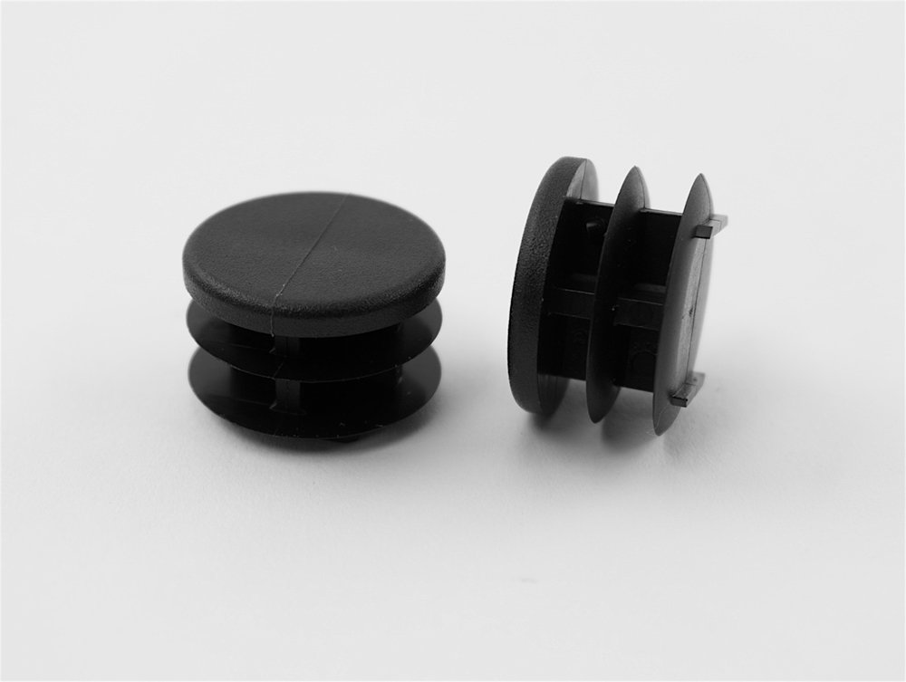 """16 1"""" Round Multi-Gauge Flat Glide Inserts for Tubes/Patio Furniture Legs"""