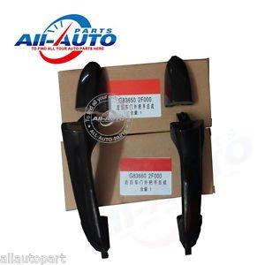 Black Rear left right outside door handles for Kia Spectra cerato 2003-2009