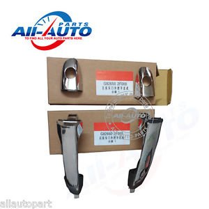 2pcs Front Right Front Left Chrome Exterior Rear Door Handles For Spectra cerato