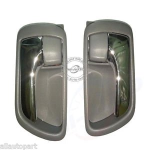 2 pcs Front rear left right Grey inside door handles for Toyota Camry 01-06