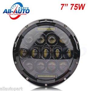 "2pcs 7"" 75W led work light w DRL 75W LED headlights LED driving lights for Jeep"