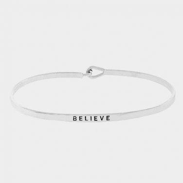 Believe Bracelet - silver