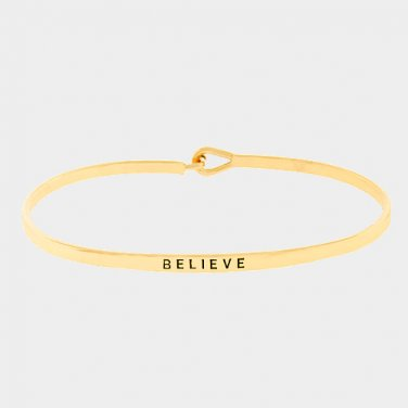 Believe Bracelet - gold
