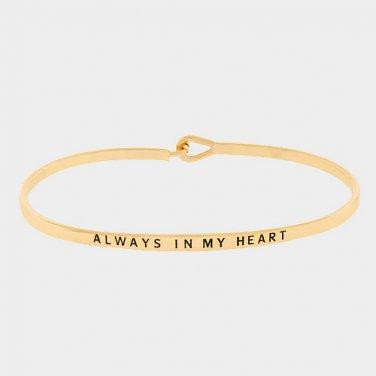 Always In My Heart Bracelet - gold