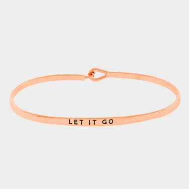 Let It Go Bracelet - rose gold