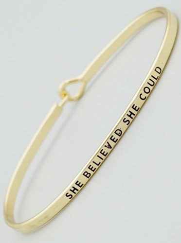 She Believed She Could Bracelet - gold