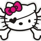 Hello Kitty Pirate Skull Sticker Decal