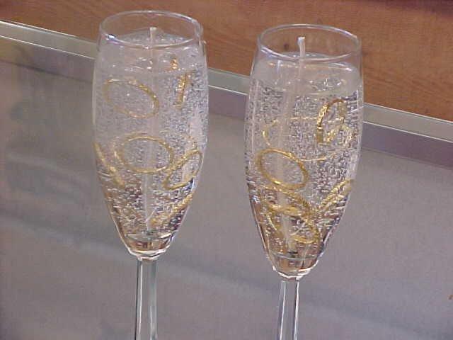 Item #: C56 -  Wedding Rings Gel Candles