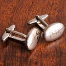 Personalized Oval Polished Cufflinks